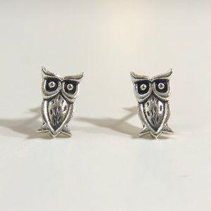 3/$12💛Mini Silver Owl Stud Earrings